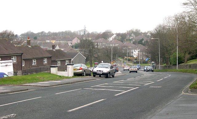 Suburban Road near Crownhill