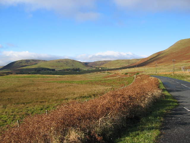 Heading west on the A708 towards St Marys Loch