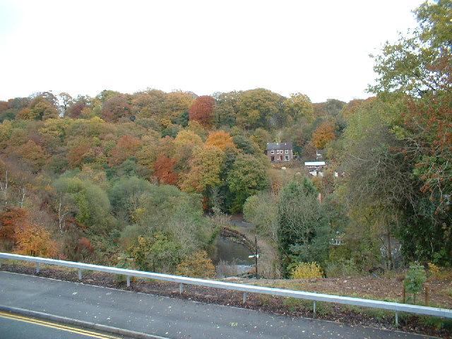 View across valley towards Woodfieldside