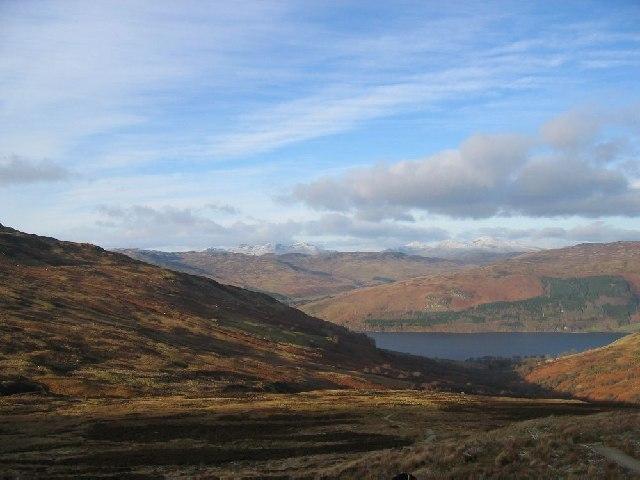 Heading down to Loch Earn