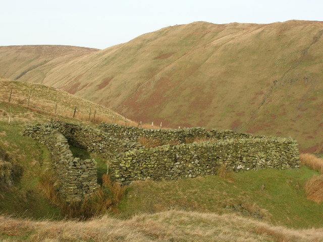 Sheepfold on slopes of Shooter How