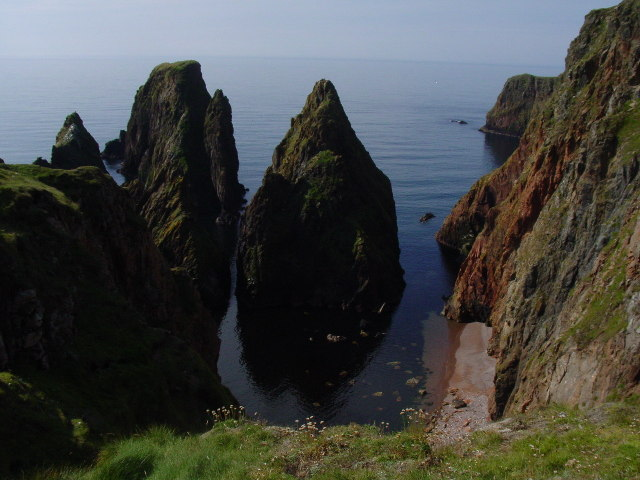 Sea stacks at Silwick