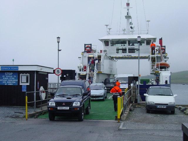 The Lerwick Ferry at Bressay slipway