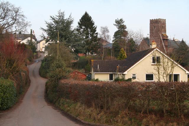 Butterleigh: church and village