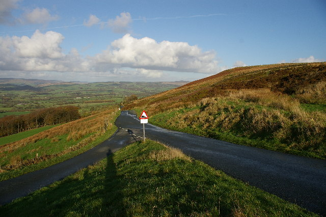 Road junction top of Jeffery Hill