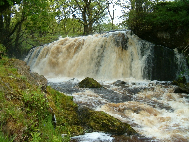 Waterfall in spate