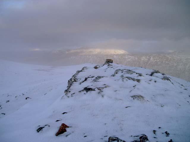 Cairn on top of Beinn Udlaidh