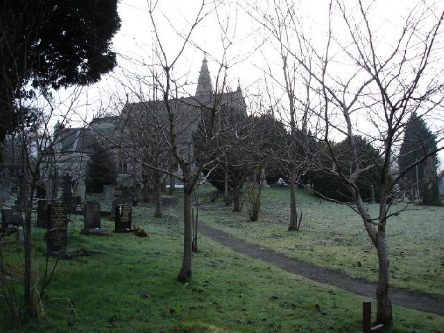 Llanbedr Dyffryn Clwyd Parish church and graveyard