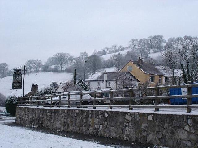 Llanferres village