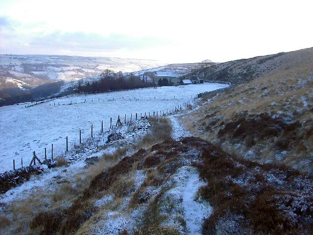 Footpath on edge of Midgley Moor