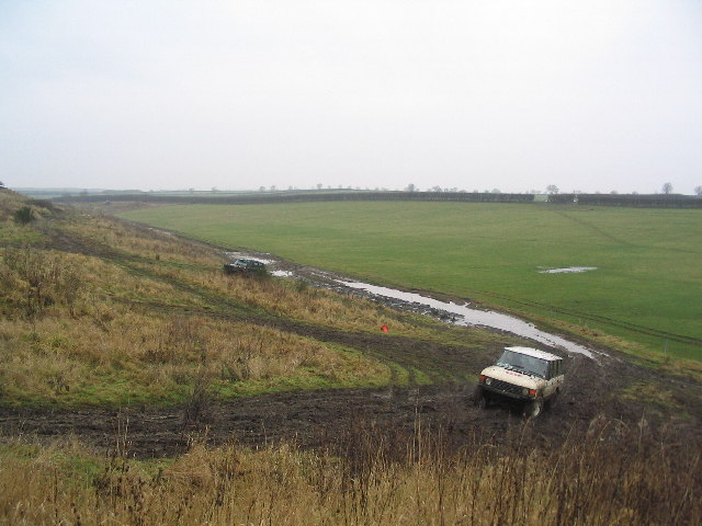 Off-roading track on land-filled quarry, Stainby