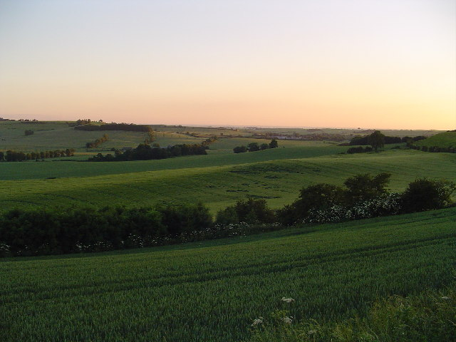 Lincolnshire Wolds from Bluestone Heath Road