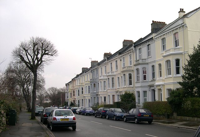 Terrace of Large Victorian Houses