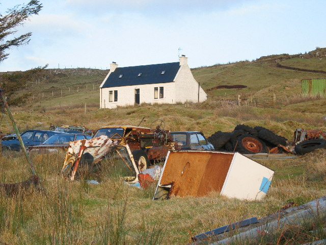 Scrapyard at Edinbane