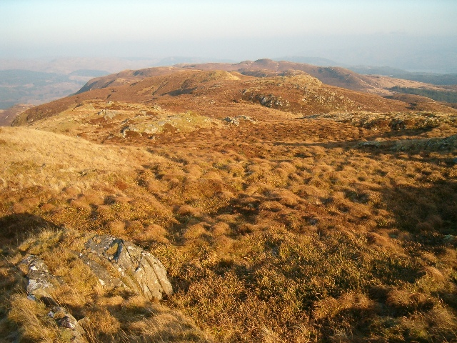 View north-east from spot height 436m