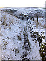 SD9931 : Bridleway north of Old Road, Crimsworth Dean by Phil Champion