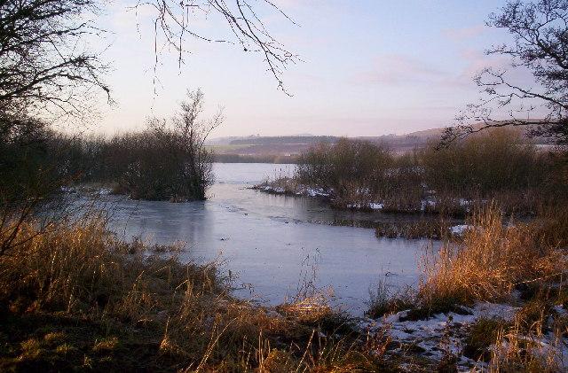 Ice bound Loch Kinnordy