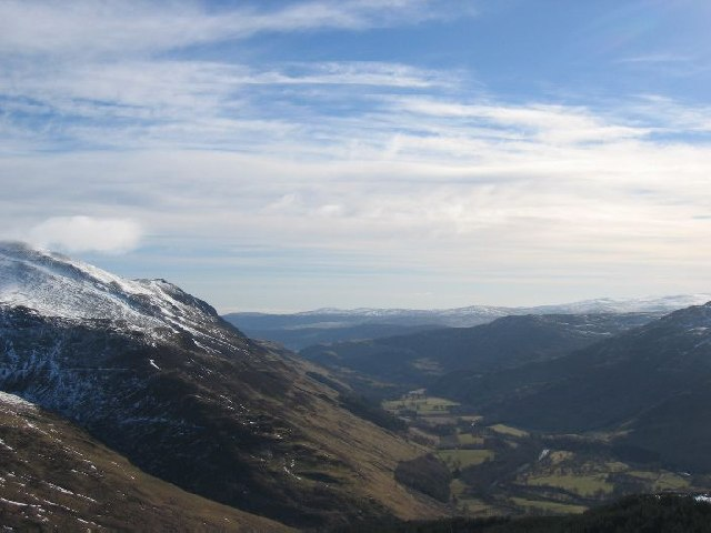 Looking down Glen Lyon