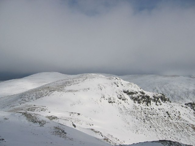 Looking NE to Meall Garbh  (Carn Mairg group)