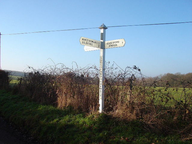 Sign post at Eggesford Fourways