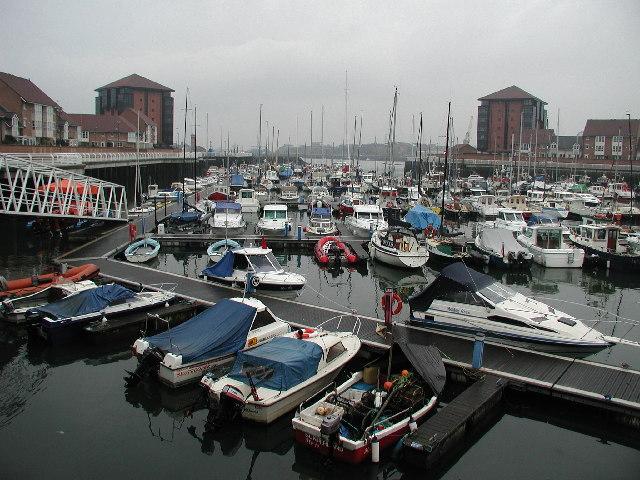 Boats in the Marina at Roker