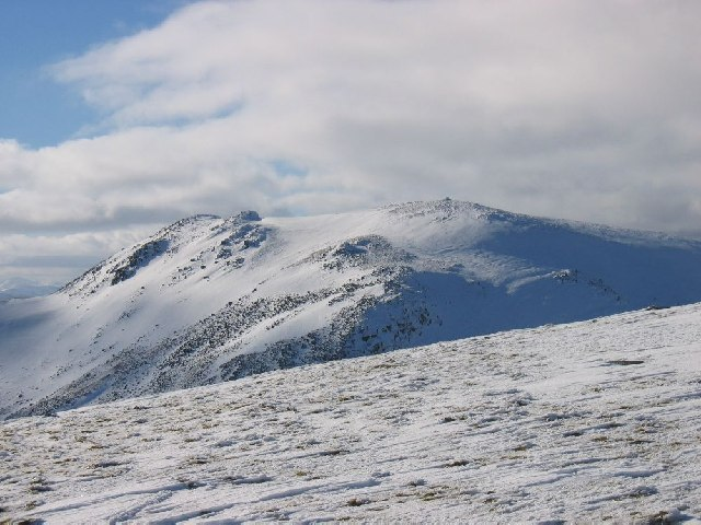 Looking west to Carn Mairg from Meall Liath