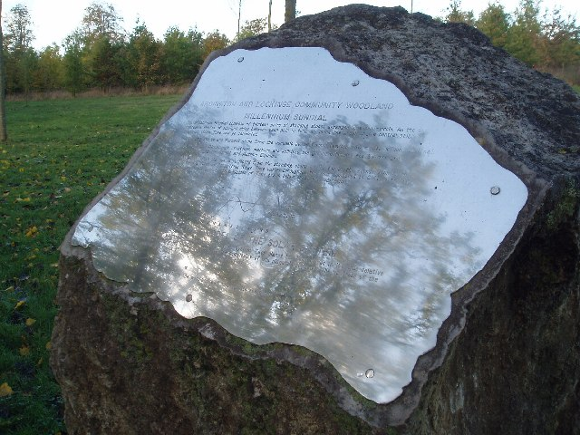 Community Woodland Plaque