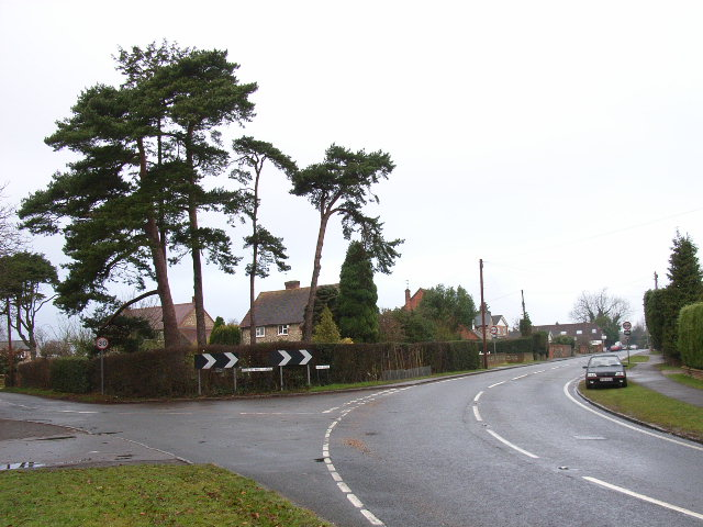 Road junction in Naphill