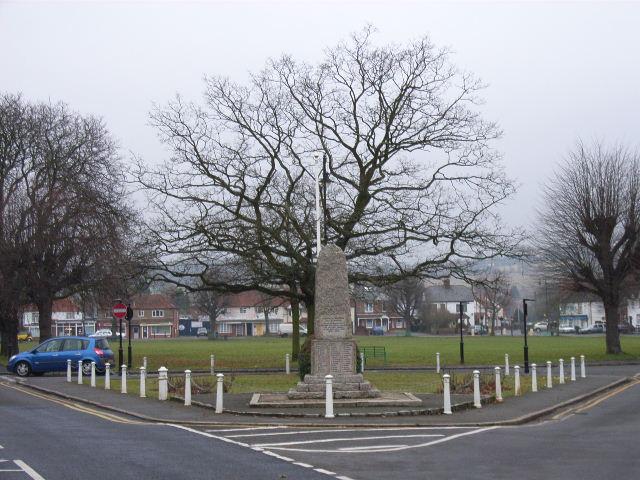 Wooburn Green and war memorial