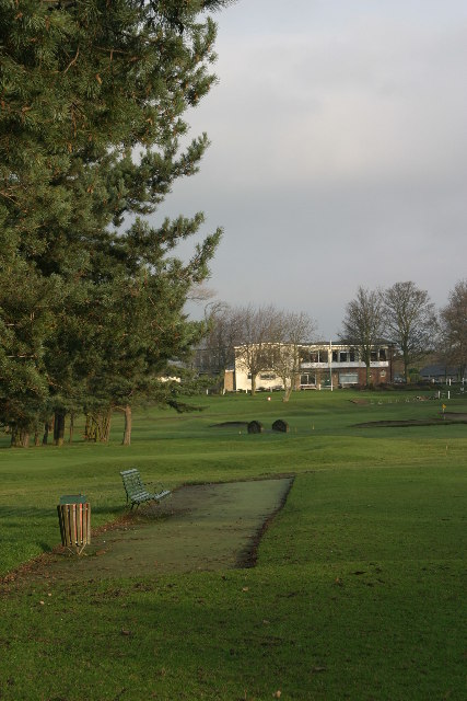 Clubhouse and third tee, Westerhope Golf Club