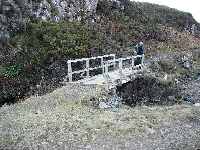 Footbridge on Point of Sleat track