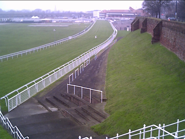 Chester Race Course alongside the City Walls