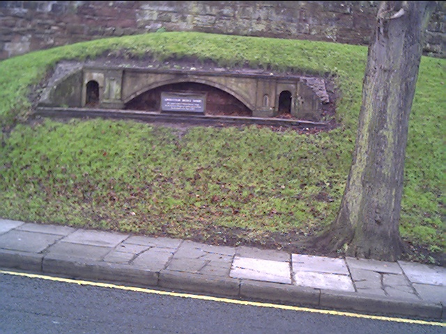Model of the Grosvenor Bridge on Castle Drive