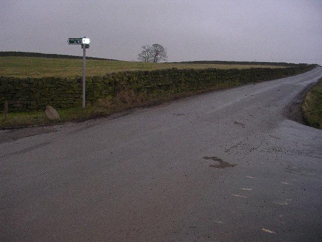 Junction of Addingham Moorside Road & Lightbank Lane