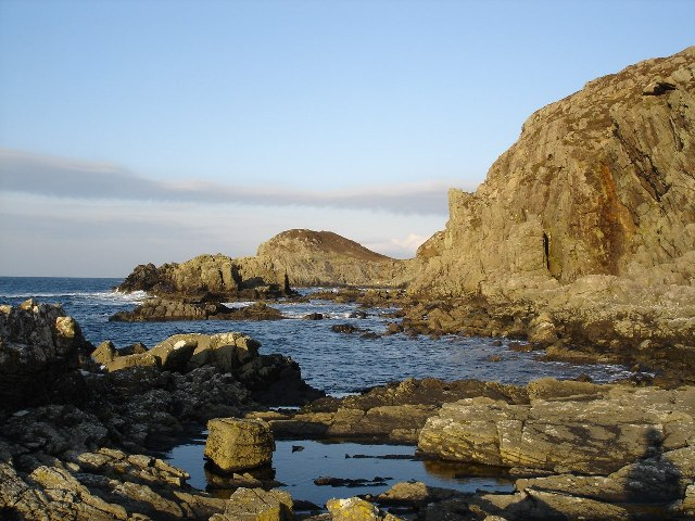 Cliffs near the Point of Sleat lighthouse