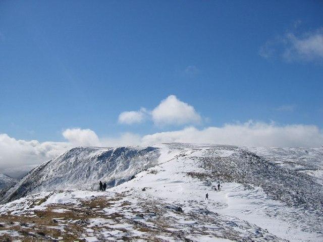 NE ridge of Carn nan Sac