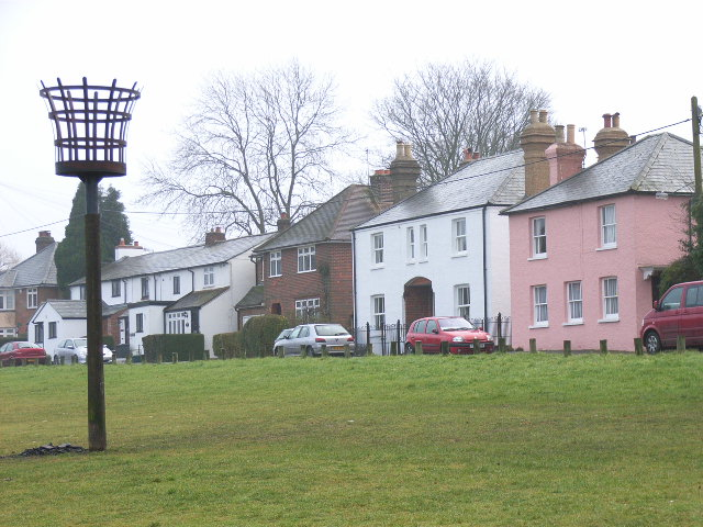 Cottages next to Downley Common