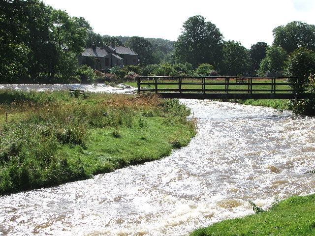 The Lyvennet river in full flow