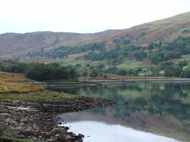 Wet Sleddale reservoir and fells beyond