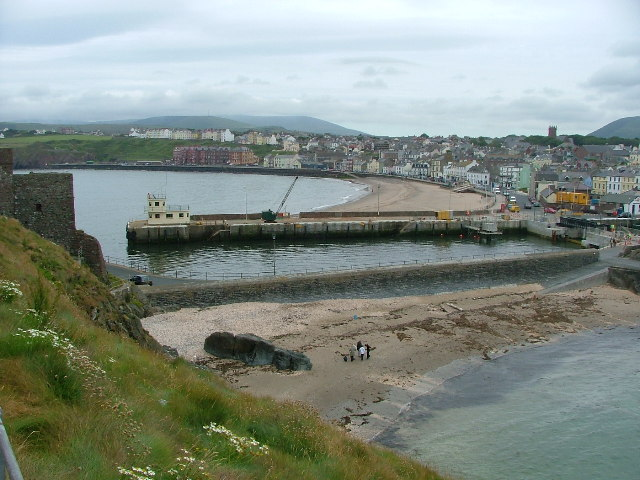 Peel Beach from beside the Castle