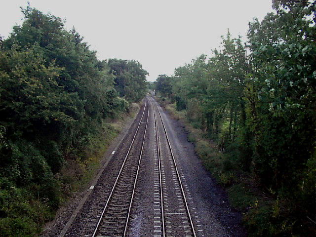 Railway line NW of Frocester