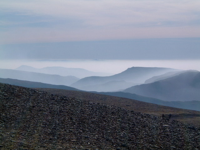 Misty morning from Helvellyn