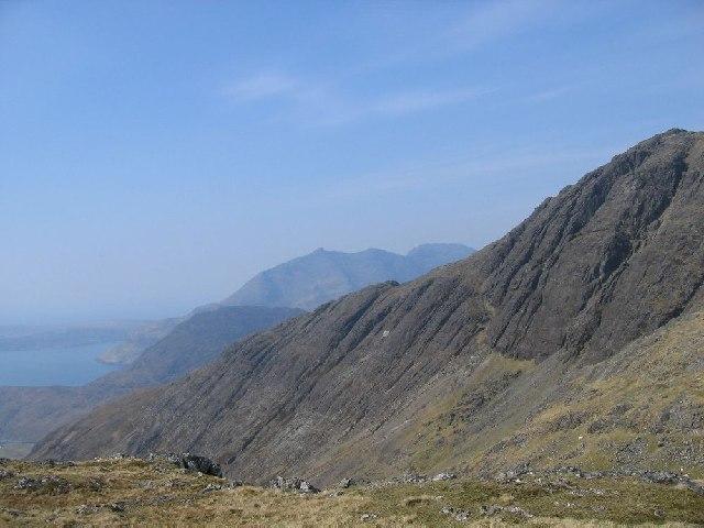 The SW ridge of Bla Bheinn