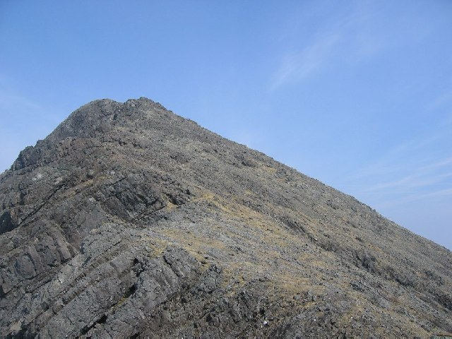 On the SW ridge of Bla Bheinn