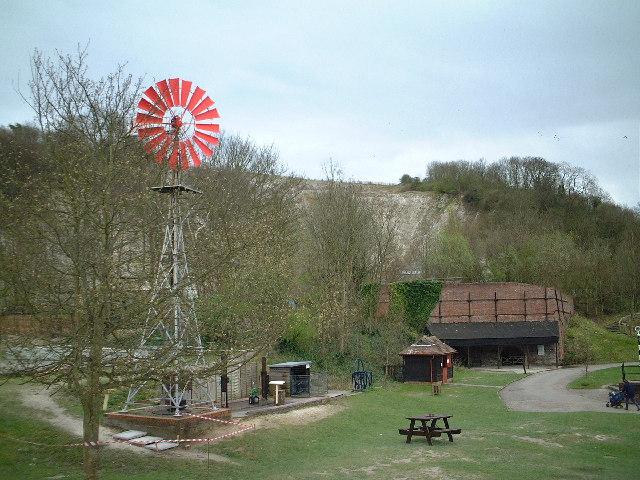 Windpump at the Chalkpits Museum, Amberley