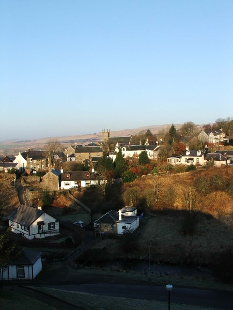 Dalmellington viewed from Motte