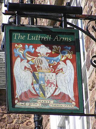 Inn sign, Luttrell Arms Hotel