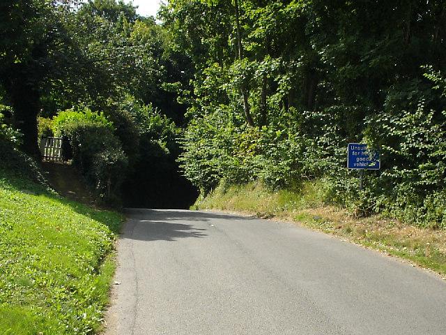 Drake Lane - steep hill ahead