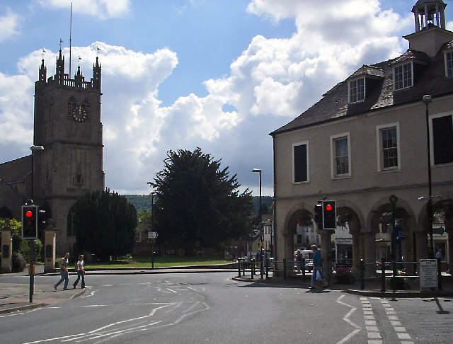 Road junction, Dursley town centre