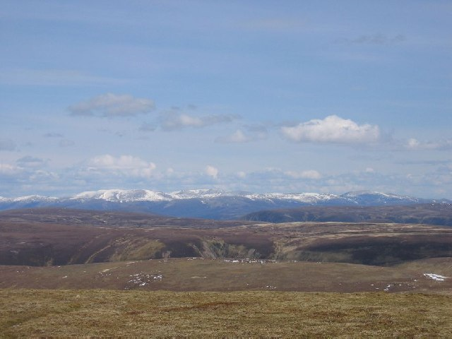 Looking east from Carn na Caim